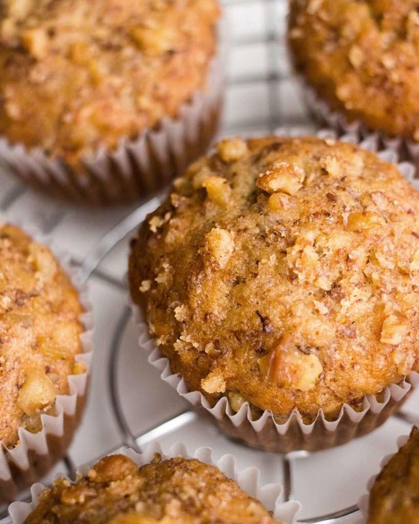 photo of banana nut muffins