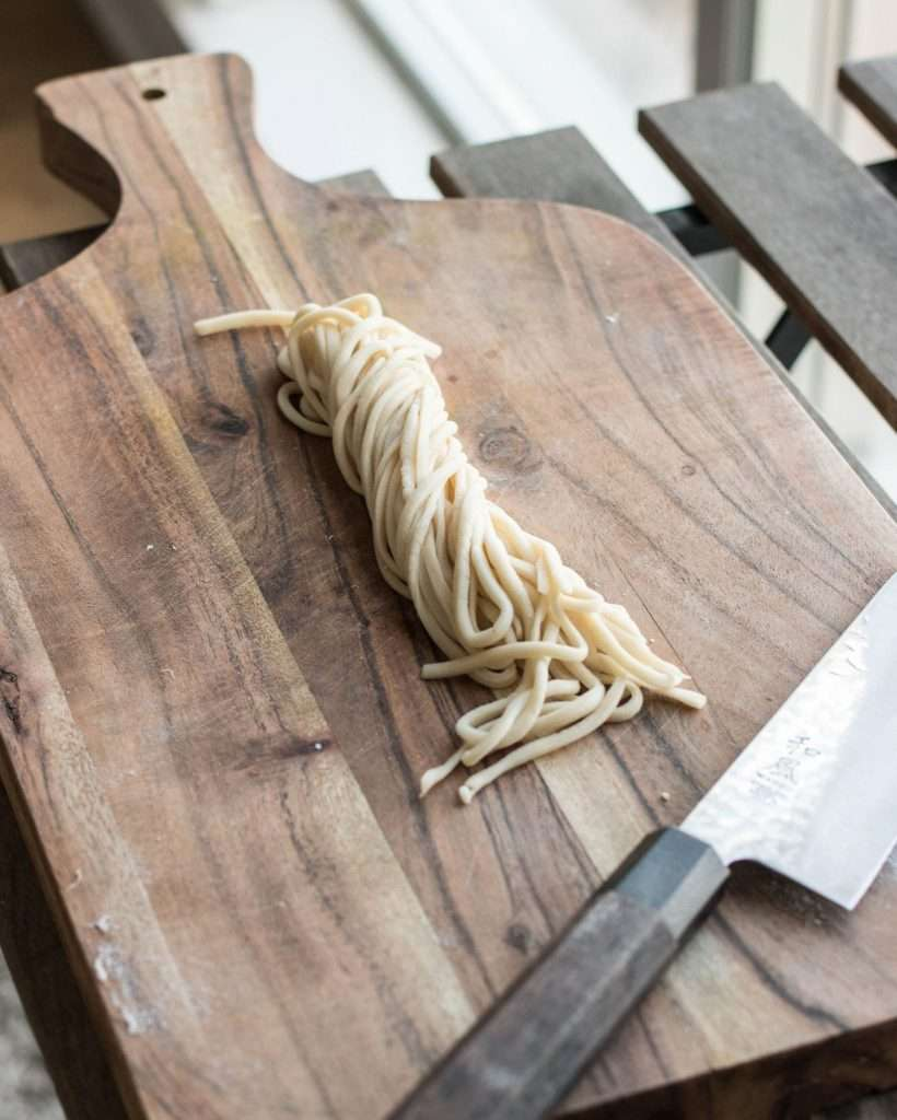 handmade knife cut noodles
