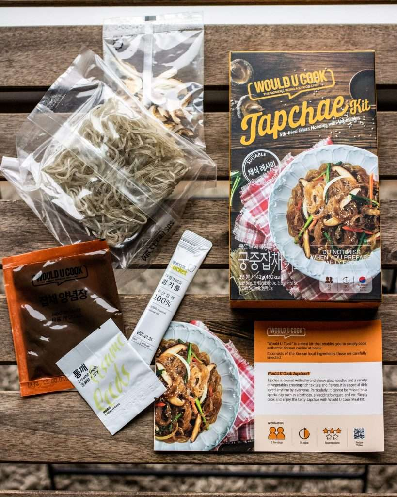 components of woulducook japchae kit